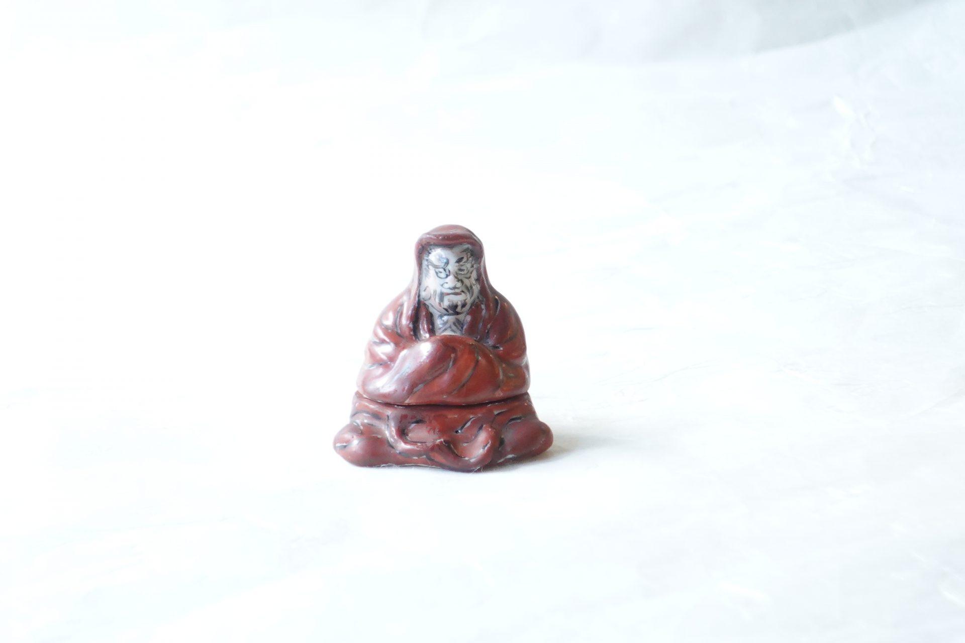 清水焼 清風与平 だるま 香合 茶道 床の間 炉の時季 鑑賞の対象 達磨大師 禅宗の開祖 だるまさん 禅宗の初祖 ありがたい 小林漆陶 岐阜市