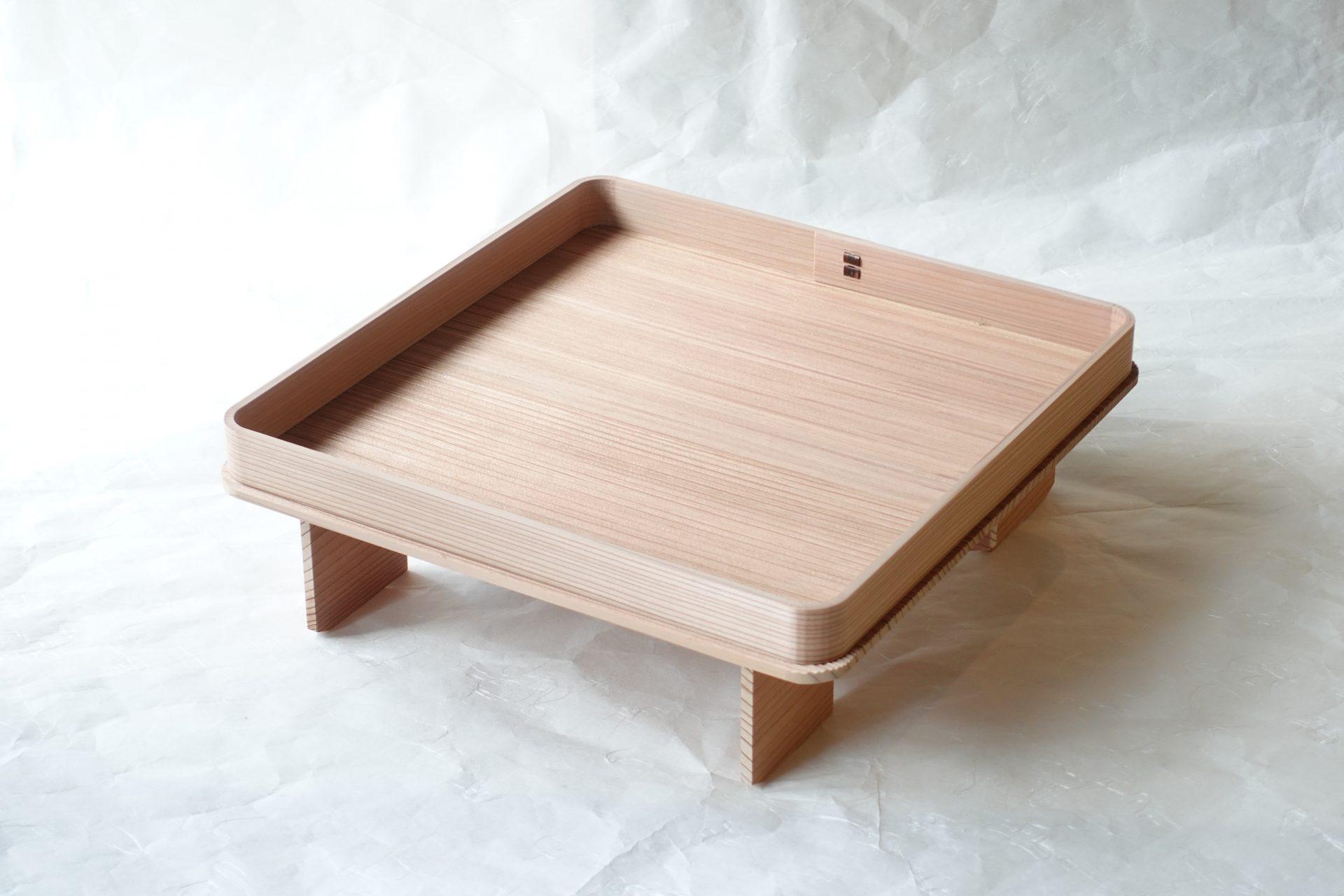 茶道具 茶の湯 茶道 日本製 国産杉 花台 利休形 花所望 花入 花を生ける 木地 足付き台 床の間 柾目 高品質