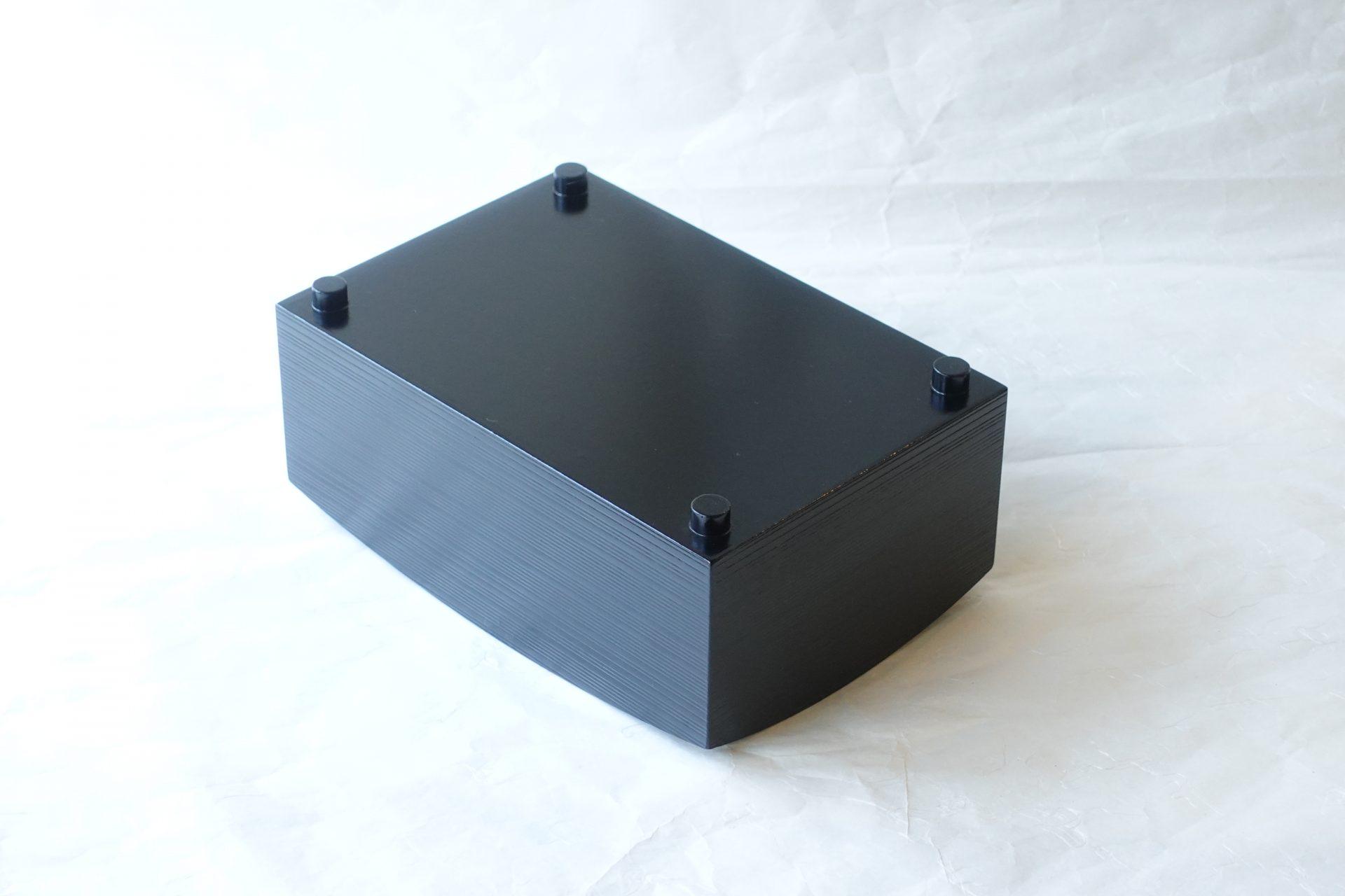 茶道 茶道具 茶の湯 莨盆 越前塗 木製 茶席 正客 櫛型 くしがた 横方向 筋 脚4つ 小物入れ