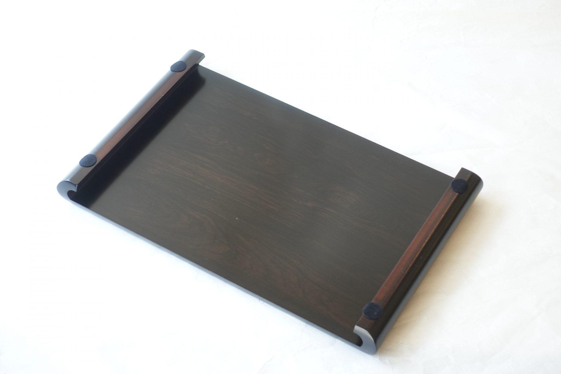 日本製 黒檀調 花台 MDF ファイバーボード 間伐材 森林保護 シンプルな形 曲線で校正されている やわらかいイメージ 置き物 飾り物 汎用性が高い 木質繊維板