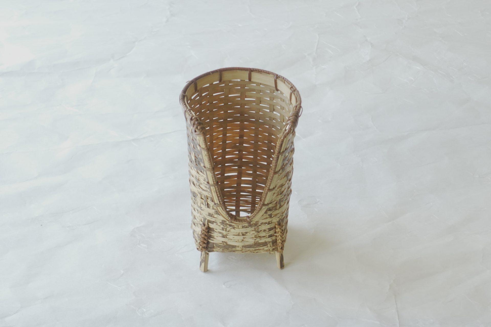 漆器 日本製 竹製 碗筒 煎茶道 煎茶碗 竹の編み方 細かい 補強 職人技 竹の表皮 滑らか とら竹 茶色が混じった竹 自然の模様 侘びた雰囲気