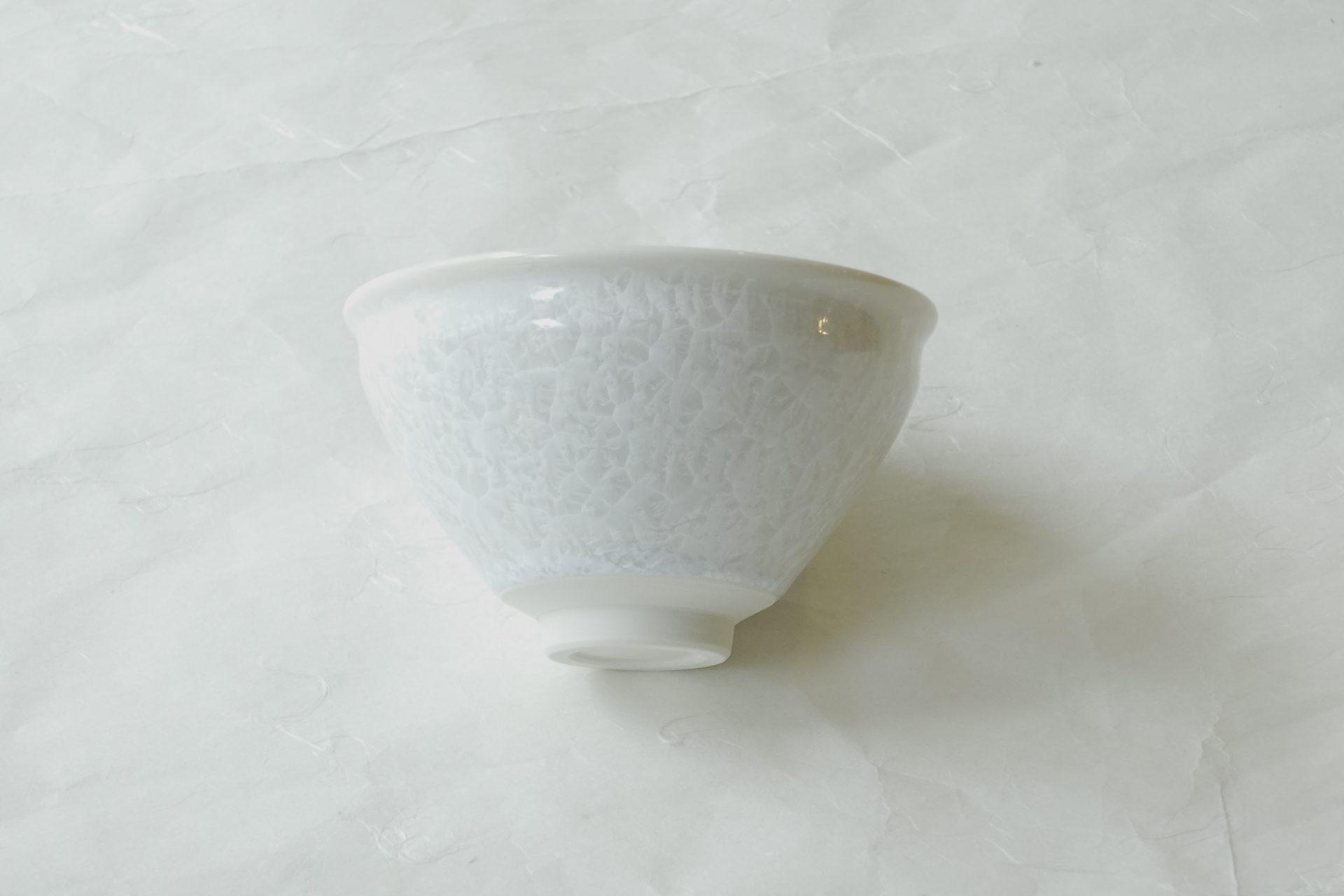 茶道具 茶の湯 茶道 清水焼 結晶釉 抹茶碗 涼し気 さわやか 小ぶり シャープ スタイリッシュ シンプル おっしゃれな形 ボール 小鉢
